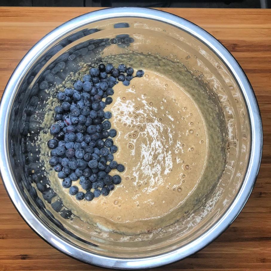 Super Fluffy Keto Blueberry Pancakes batter