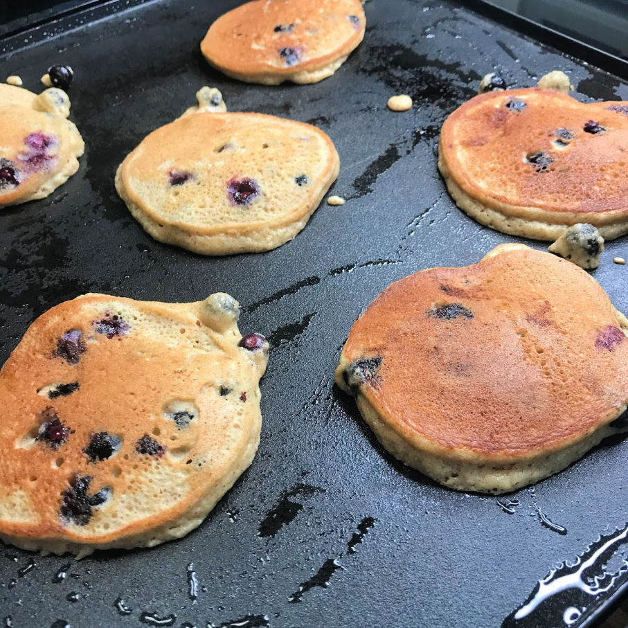 Super Fluffy Keto Blueberry Pancakes side 2