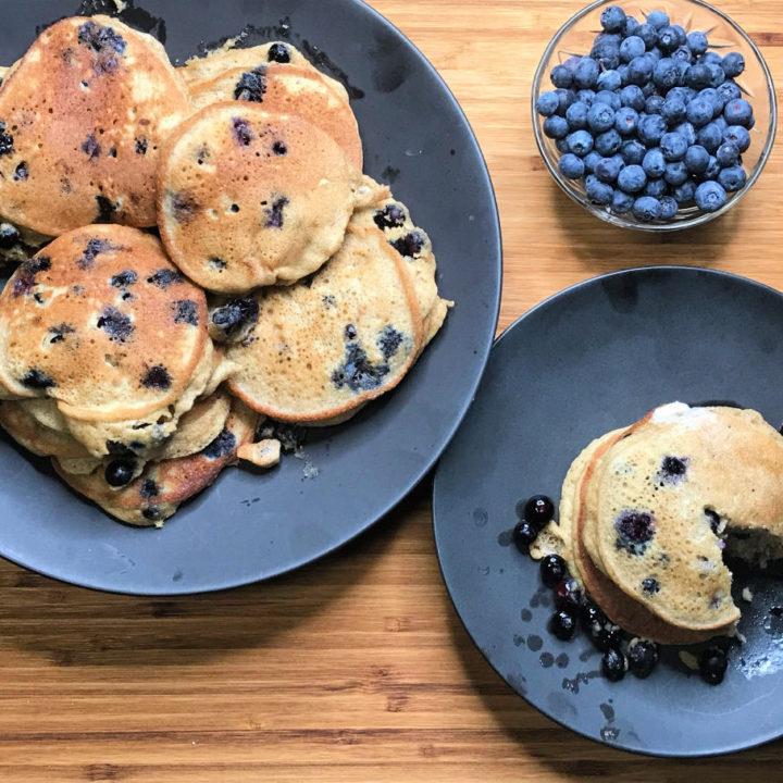 Keto Blueberry Pancakes recipe card