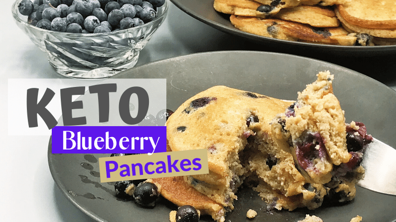 Super Fluffy Keto Blueberry Pancakes feature photo
