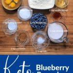 Super Fluffy Keto Blueberry Pancakes pin 2