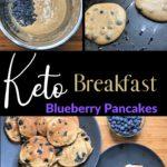 Super Fluffy Keto Blueberry Pancakes pin 3
