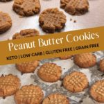 The Absolute Best Keto Peanut Butter Cookies pin 2