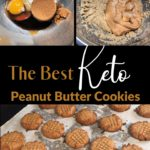 The Absolute Best Keto Peanut Butter Cookies pin 3