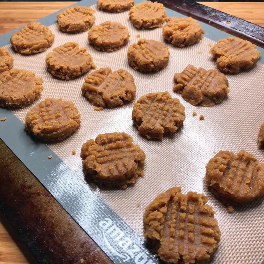 peanut butter cookies prebake