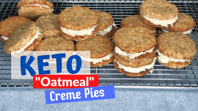 Keto Oatmeal Creme Pies feature photo