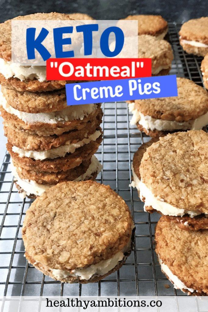Keto Oatmeal Creme Pies pin 1