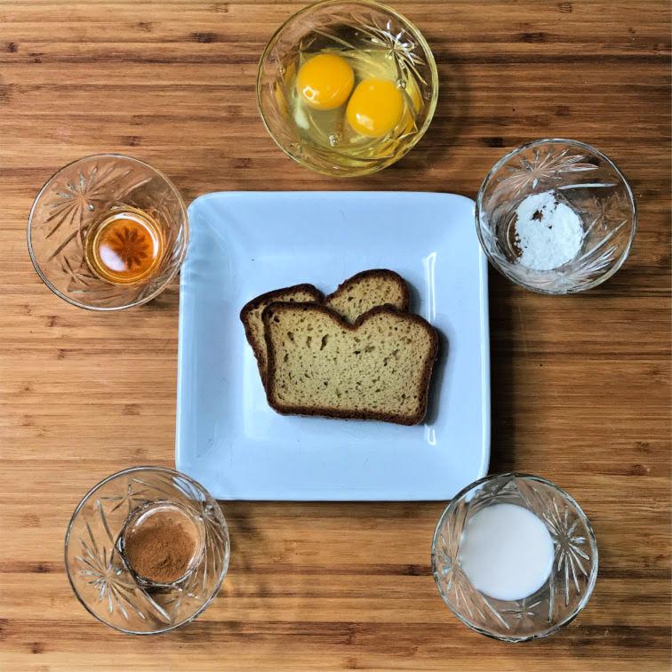 Keto French Toast ingredients