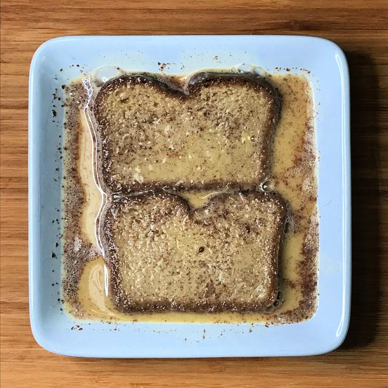 Keto French Toast soaked