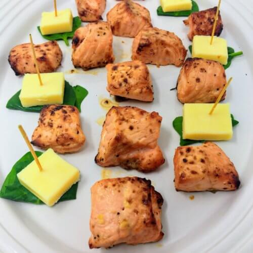 Garlic Butter Salmon Bites