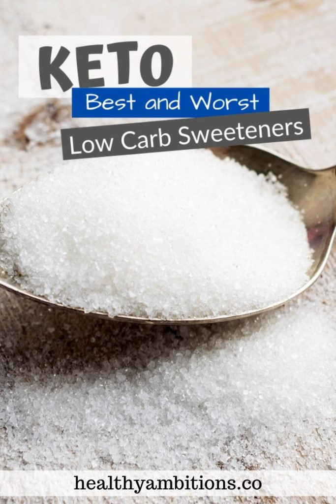 Keto-Approved Low Carb Sweeteners pin 1