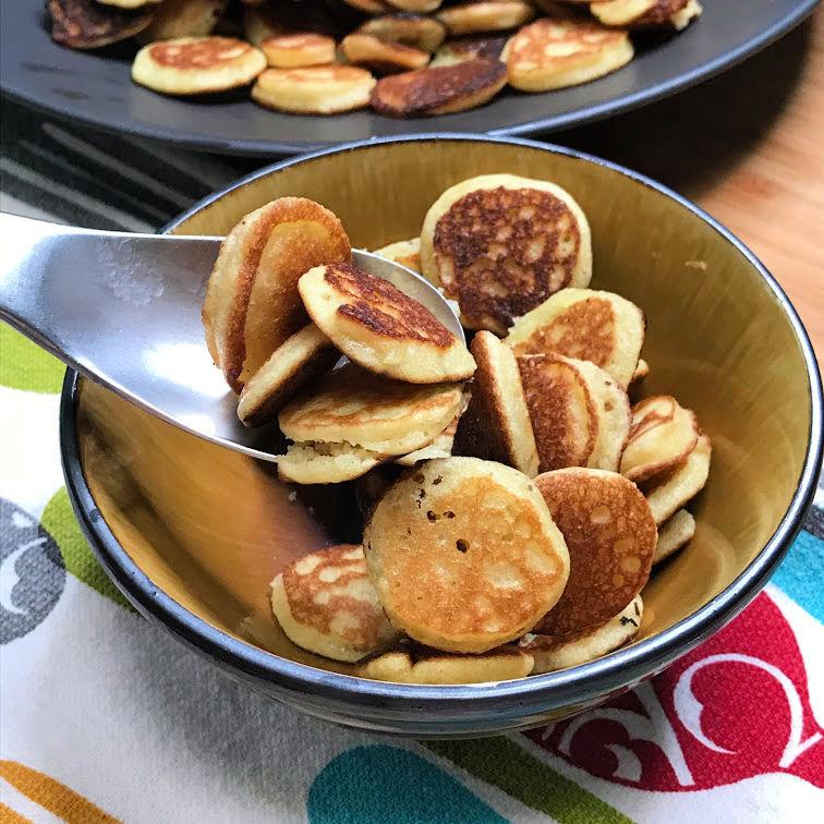 keto mini pancake plated