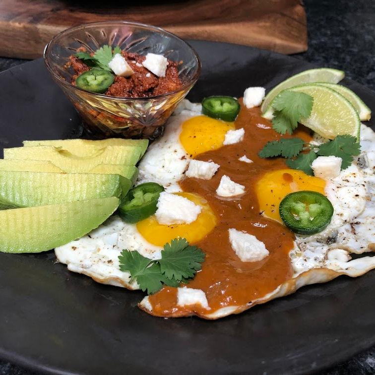 Ranchero Sauce with breakfast