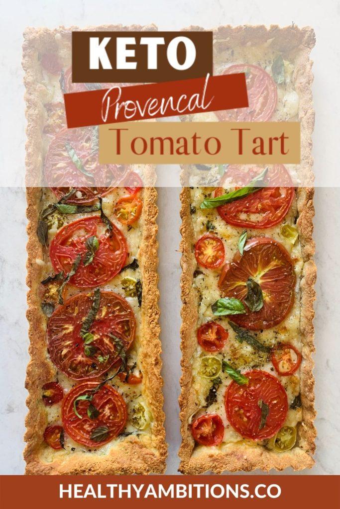 Gluten Free Provencal Tomato Tart pin 1