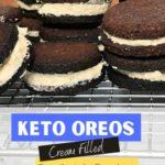 Homemade Oreo Cookies - Keto and Low Carb pin 1