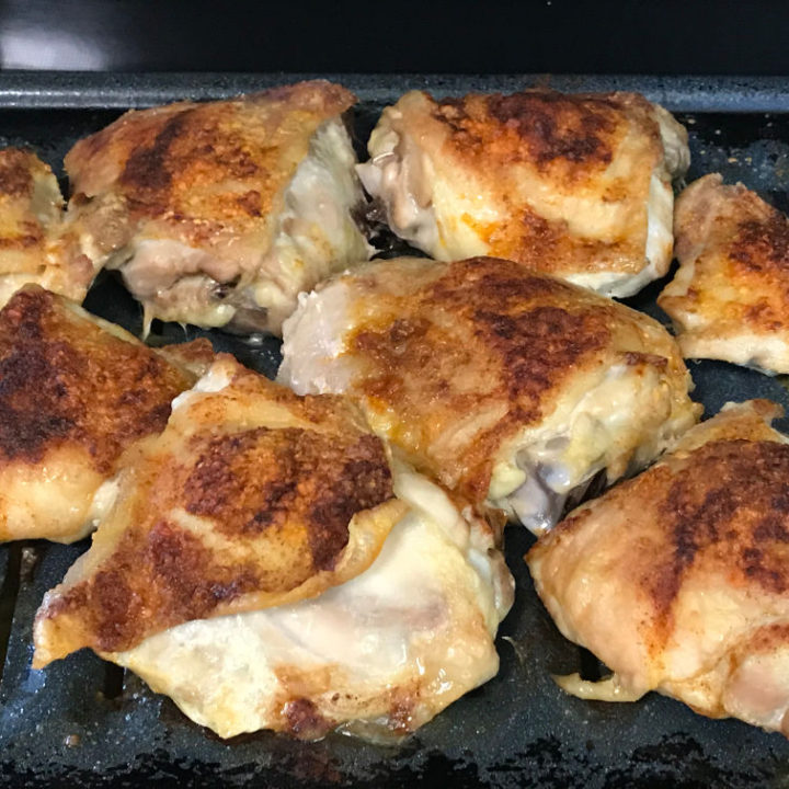 Classic Baked Chicken Thighs Recipe Card