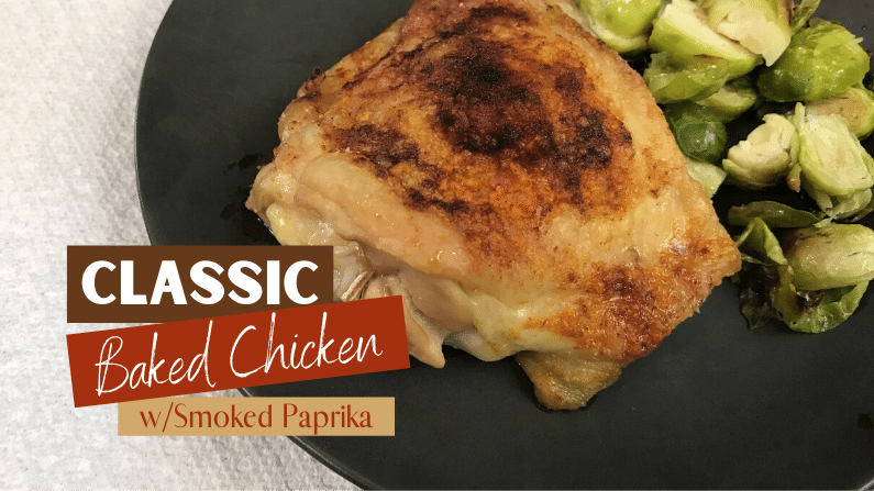 Classic Baked Chicken Thighs Feature Photo