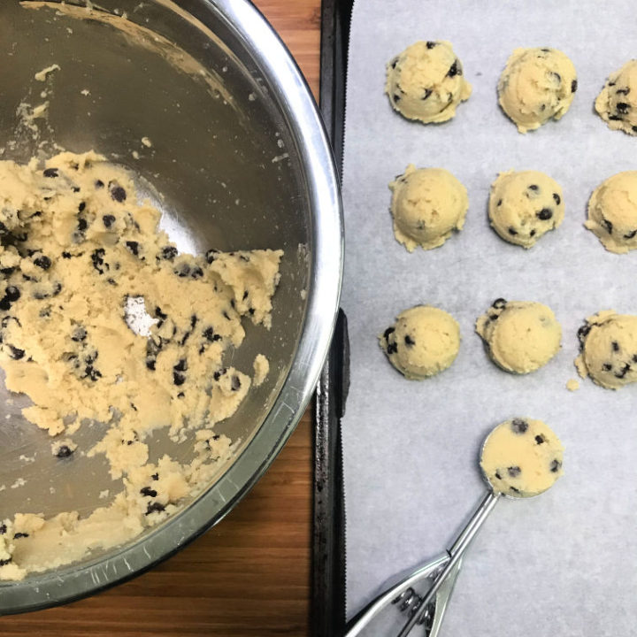 Frozen Keto Cookie Dough Bites