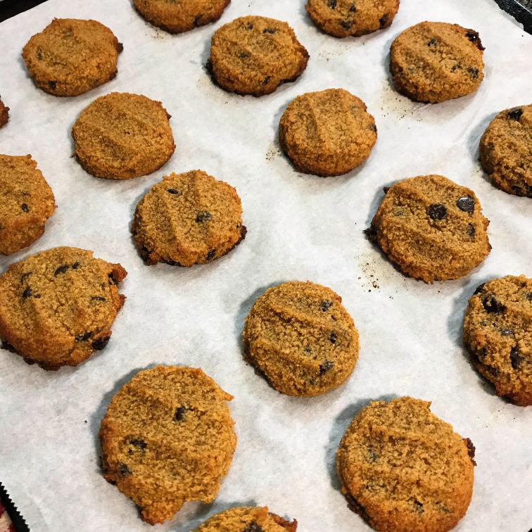 keto pumpkin cookies baked