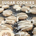 Keto Cinnamon Roll Sugar Cookies pinterest pin
