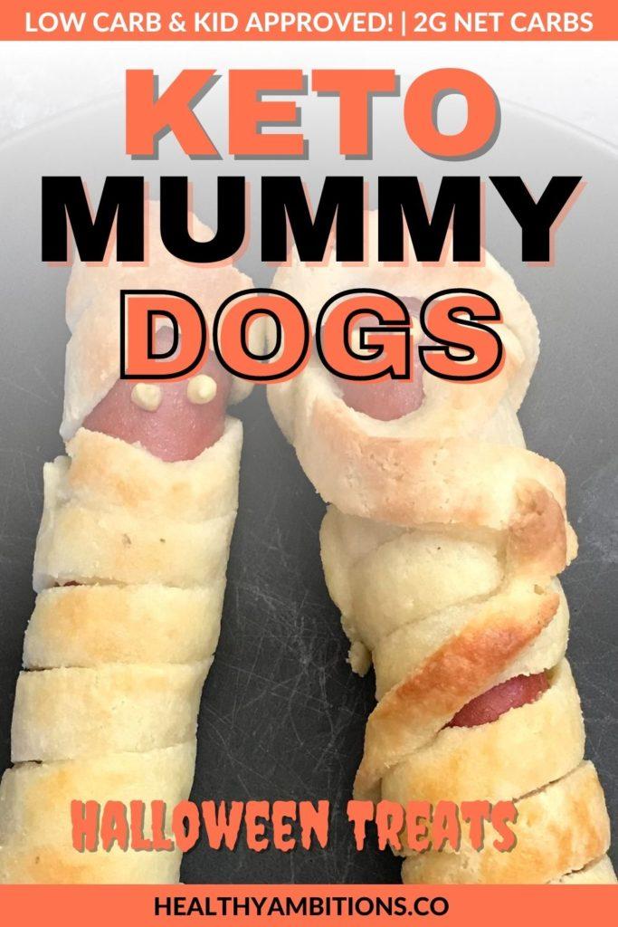 Keto Mummy Dogs recipe with fathead dough