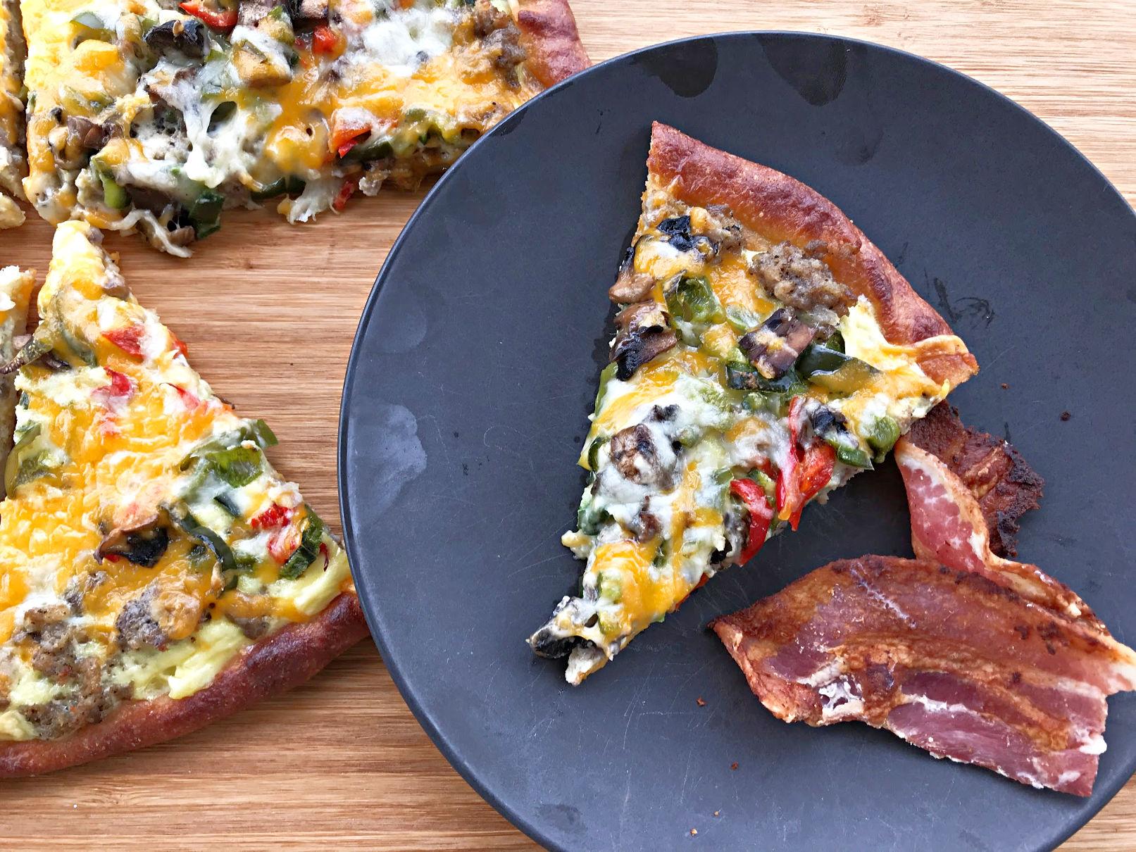 Keto Breakfast Pizza with Fathead Dough