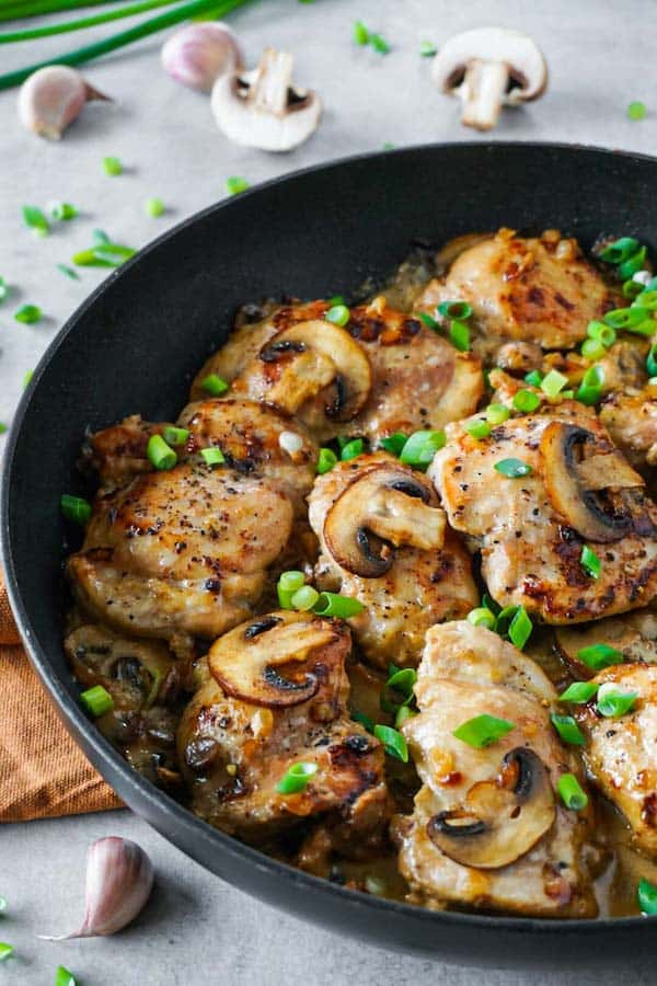 Chicken Thighs with Mushroom Sauce