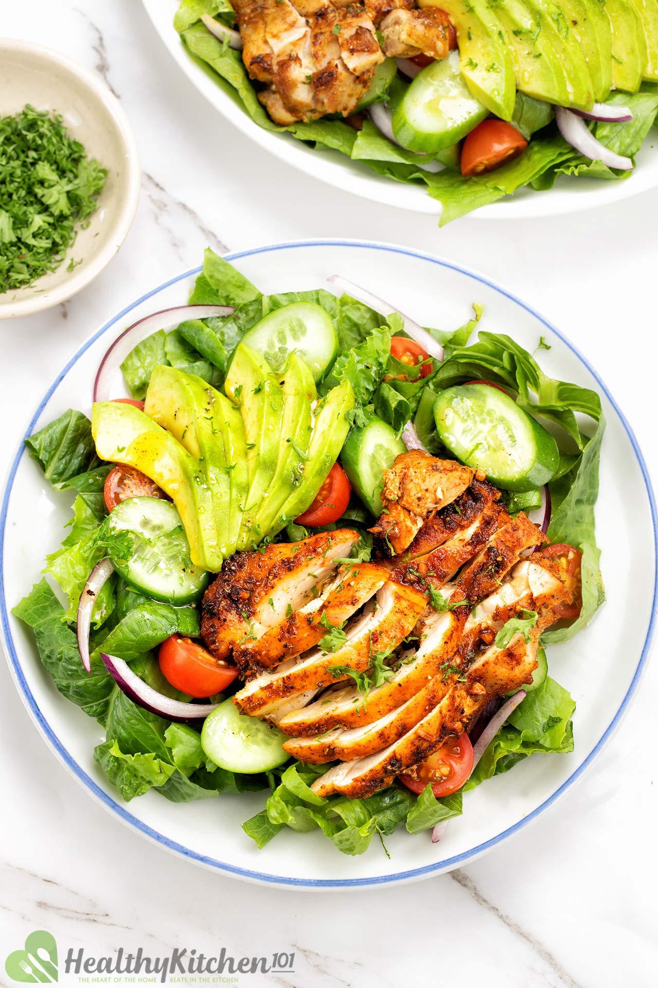 Grilled Chicken Salad Recipe Healthy Kitchen 101