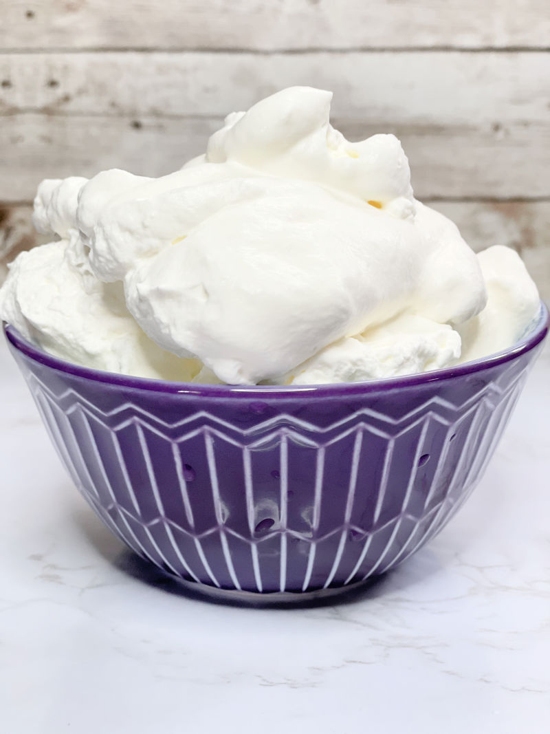 whipped cream at home