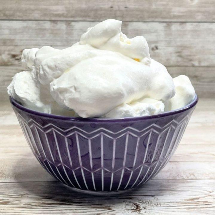 Sugar Free Whipped Cream recipe card