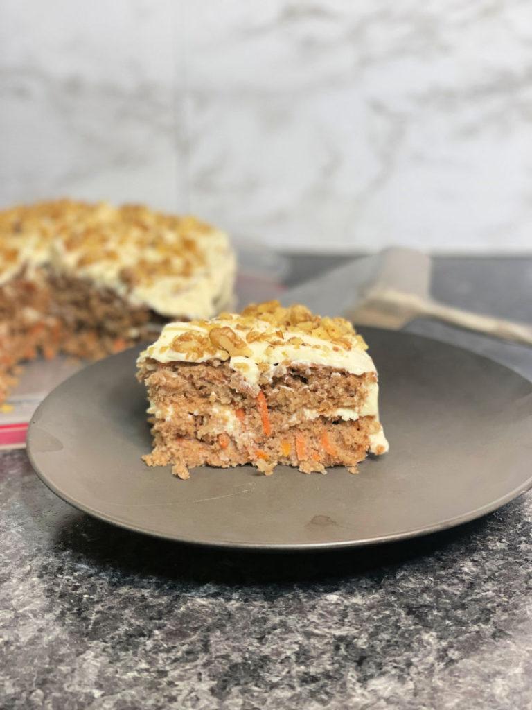 Gluten Free Carrot Cake sliced