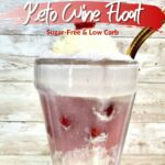 Keto Red Wine Ice Cream Float pin