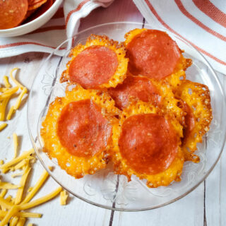 Keto Pepperoni Cheese Chips feature photo