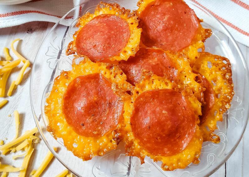 Keto Pepperoni Cheese Chips (Easy Keto Snacks)
