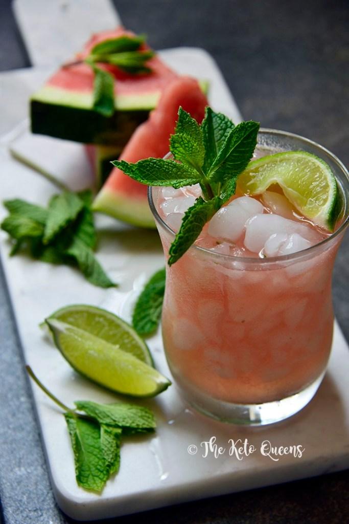 Best Keto Alcohol Drinks Summer Watermelon Mojitos