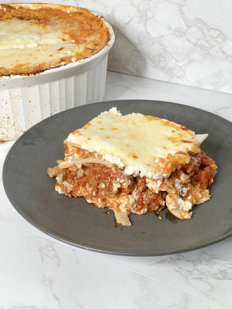 Keto Lasagna with Palmini Noodles casserole
