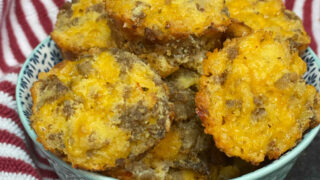 Keto Sausage and Cheese Mini Muffin FEATURE PHOTO