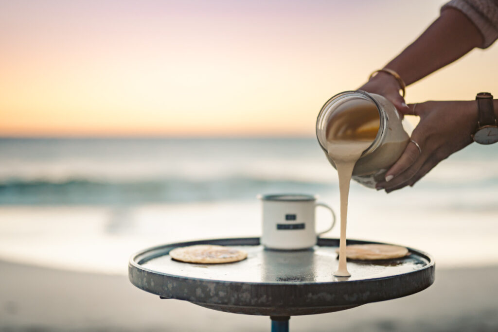 Keto While Camping pancakes