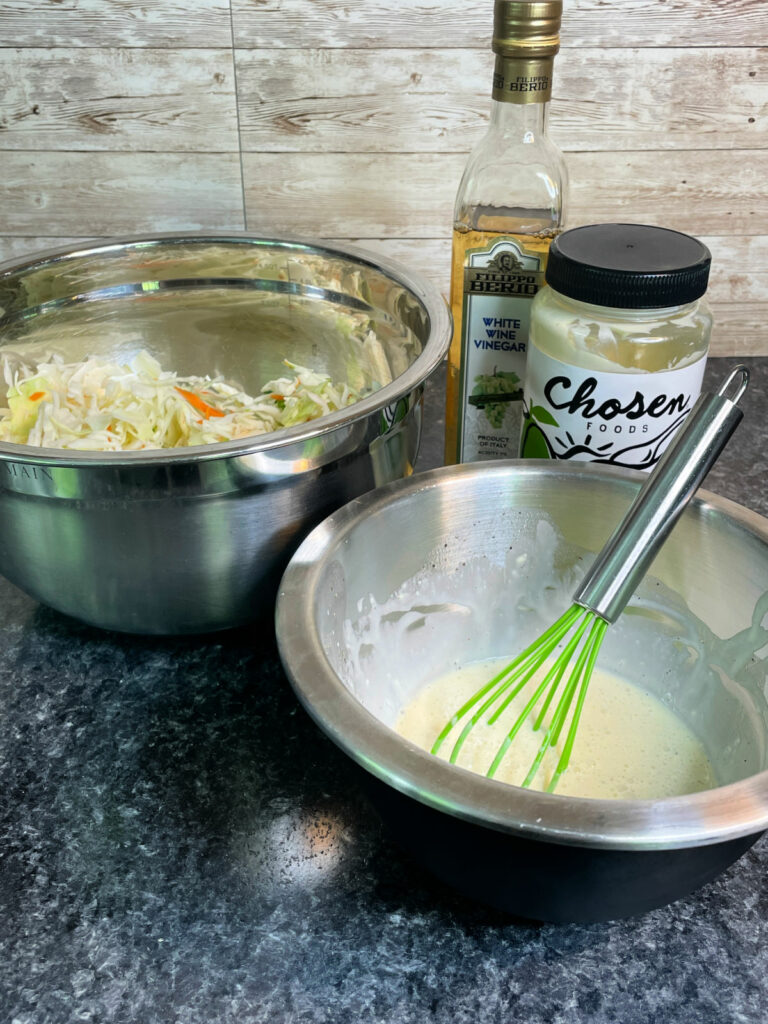 Sugar Free Coleslaw ingredients