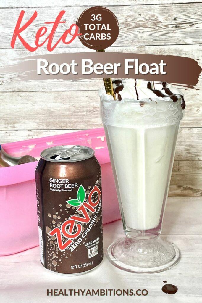 Sugar Free Root Beer Float pinterest