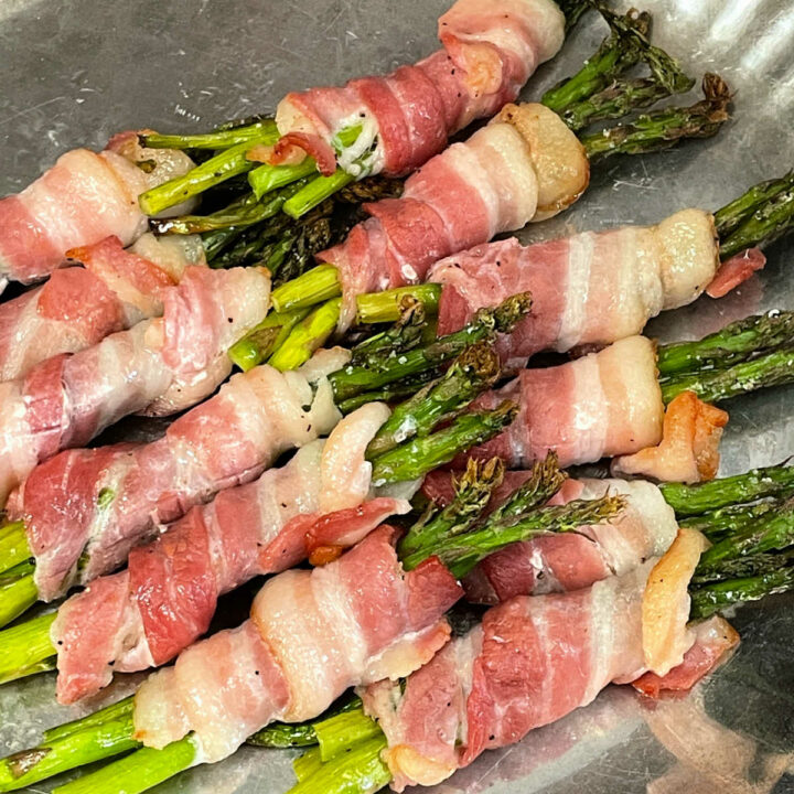 Bacon Wrapped Asparagus baked