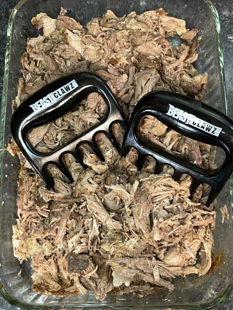 Keto Slow Cooker Pulled Pork shredded