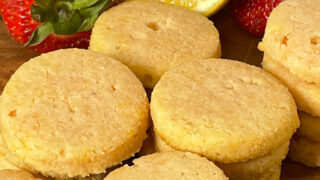 Keto Strawberry Lemonade Cookies feature photo