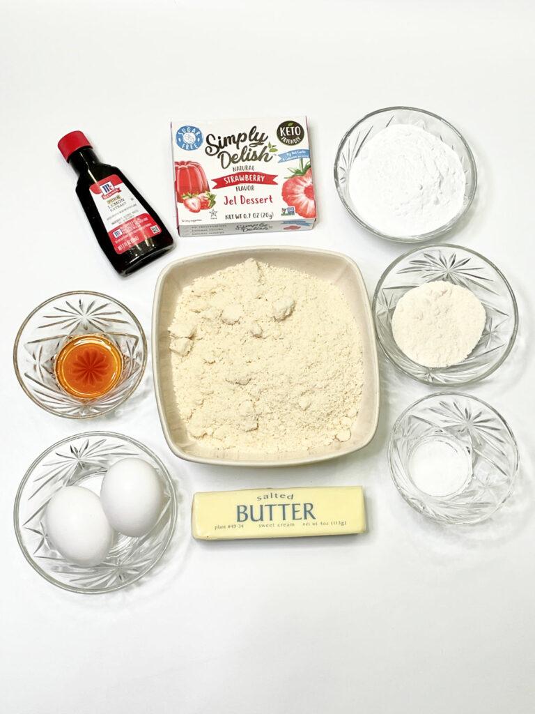 Keto Strawberry Lemonade Cookies ingredients