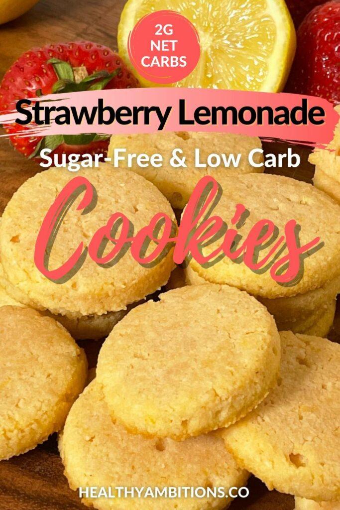 Keto Strawberry Lemonade Cookies pin (1)