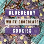 Keto Blueberry White Chocolate Chip Cookies Pinterest
