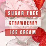 Keto Strawberry Ice Cream Pinterest