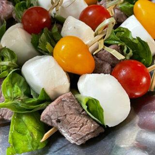 Keto Balsamic Caprese Steak Bites FEATURE
