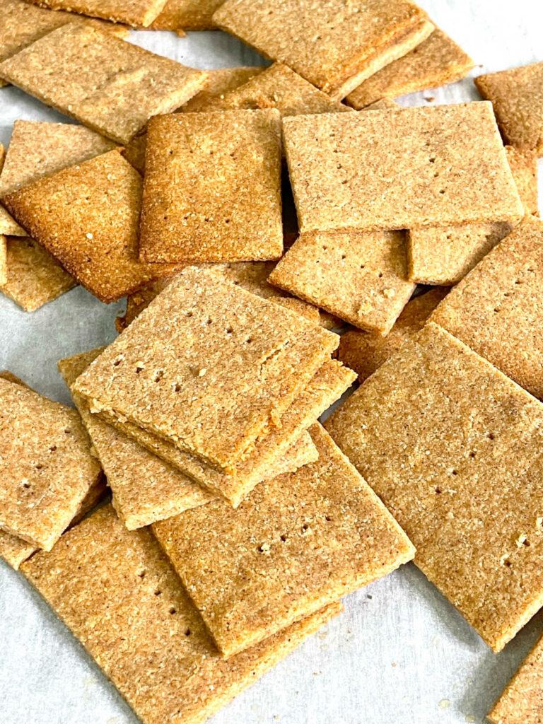 Keto Graham Crackers baked