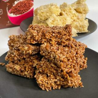Keto Rice Crispy Treats FEATURE
